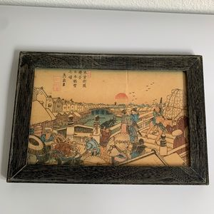Vintage Japanese Woodblock Print Art